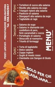 Sagra sella salama menu invernale